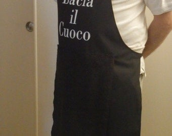 Italian,Kiss the Cook,Apron with penis,Man penis apron,Man apron,Personalized man apron,Gag gift,Funny man gift, maturecontent,READY TO SHIP