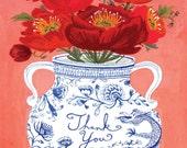 Dragon Vase Thank You Card