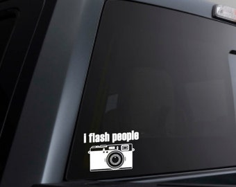 I Flash People ~Camera Decal~Photography Decal~