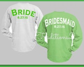 Wedding Party Spirit Jersey - Bridal party Spirit Jersey - Spirit Jersey Custom - Monogram Spirit Jersey