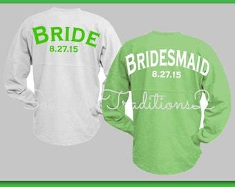 Wedding Party Spirit Jersey - Bridal party Spirit Jersey - Spirit Jersey Custom - Monogram Spirit Jersey