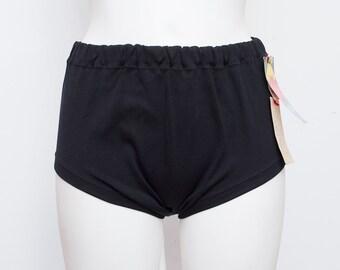 60s black bikini bottom NOS Vintage black Size M
