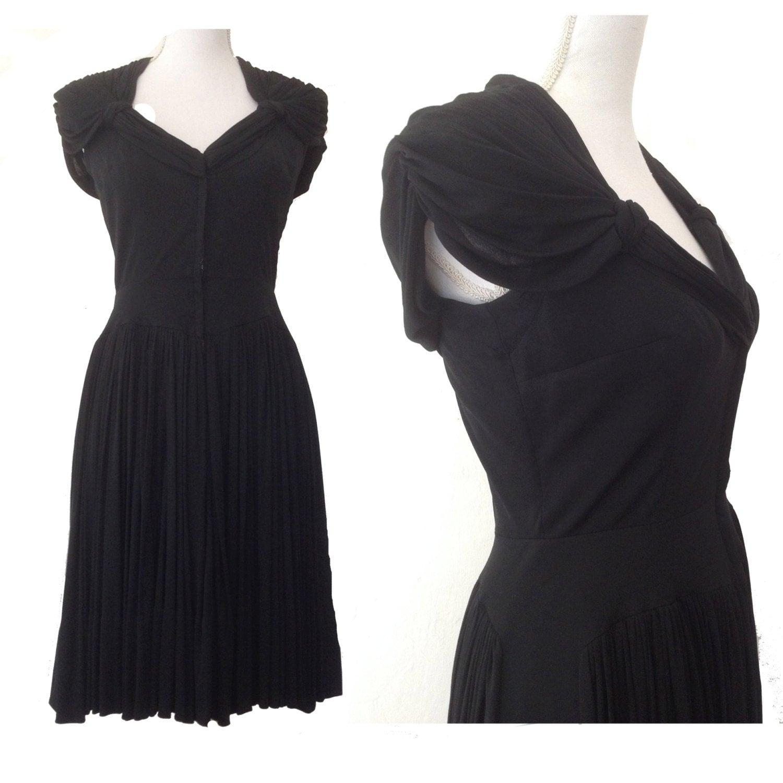 rare des ann es 1940 madame gr s style fran ais jersey de soie. Black Bedroom Furniture Sets. Home Design Ideas