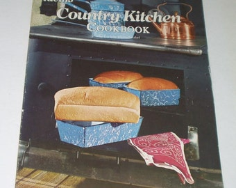 Ideal Country Kitchen Cookbook 1975 Vintage Cookbook Retro Country Kitchen
