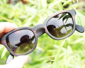 Sale - 10% off COVER-M handmade ebony wooden TAKEMOTO sunglasses