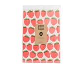 Strawberries Newsprint Gift Wrap / Knot & Bow x The Indigo Bunting