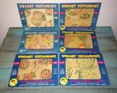 Lot of 6 Vogart Textilprints, Iron On Transfer Patterns