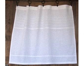 Slim White Linen Curtain,  Paris Kitchen, European Style, French Window Treatment