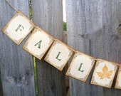 Fall in Love Banner Rustic Autumn Wedding Decoration Photo Prop