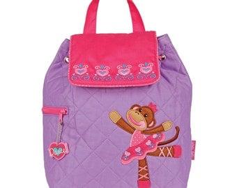 New Ballet Monkey Backpack Personalized Stephen Joseph