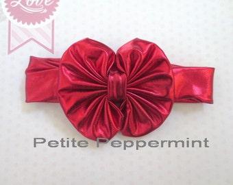 Baby bow knot headband - Red Baby Headband - Baby Headwrap - Baby Wrap Bow - Baby Turban Bow - Turban Headwrap - Turban Headband