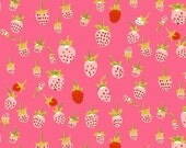 Heather Ross Briar Rose berries pink FQ or more OOP HTF