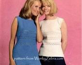 Vintage Crochet dress and shell top Pattern PDF 793 from WonkyZebra