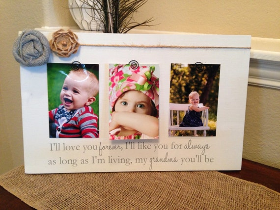 Personalized Picture Frame With Family Name Quote Family: Mother's Day Gift For Grandma Mom Personalized Picture