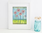 "Pintable Art, Digital Download, Growth Mixed Media Print, Digital Printable Wall Art 8""x10"" (Jpeg Files) - INSTANT DOWNLOAD"