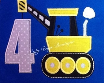 Super cute Construction Crane Birthday shirt. Can add name at no extra charge.*****Please Read Shop Announcement*****