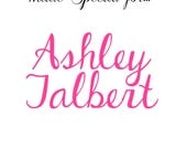 Custom Listing Ashley Jalbert