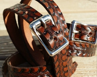 As seen on MTV Teen Wolf 2015 Rich Brown Tooled Double wrap leather bracelet