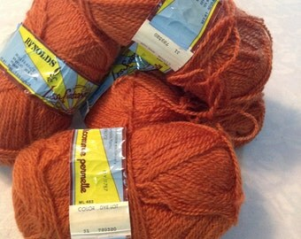 Reynolds Les Saisson wool blend yarn 5 skein lot