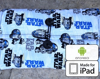 starwars bag ipad case android 10 inch tablet R2-D2 fabric | star wars galaxy tab microsoft surface kindle cover 7 inch tablet case