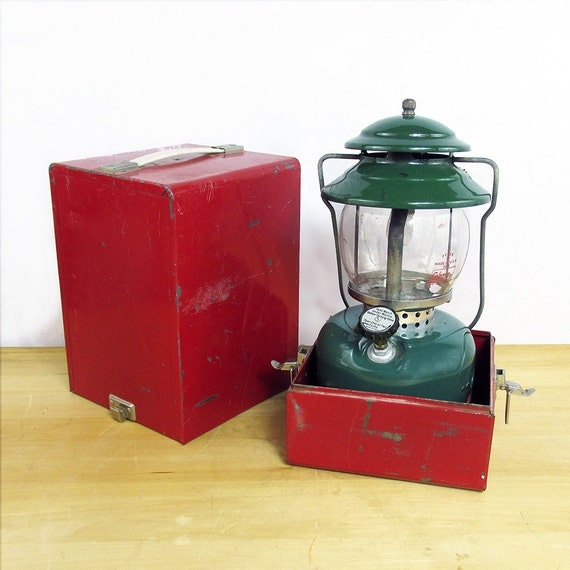 1960s coleman model 5120 lp single mantle camping lantern with Propane stove left on overnight