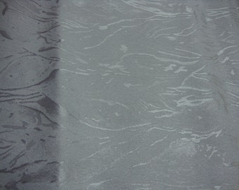 Vintage Jacquard Polyester Dove Grey Gray Textured Fabric
