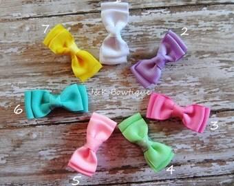 Solid mini bow tie bows...you pick color
