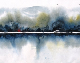River Mist III - Original Watercolor Painting
