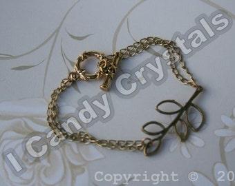 Branch Leaf Gold Bracelet - silver available