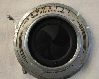 Vintage Camera Alpha X Wollensak Shutter Speeds from 1-50 plus B and T Early 1900s 08