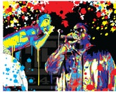 Wall Art Home Decor Tupac Shakur and Biggie Pop Art Masterpiece. Notorious Biggie Smalls east coast west coast hip hop