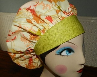 Humming Birds  Banded Bouffant Surgical Cap by Nurseheadwear Bakers Cap