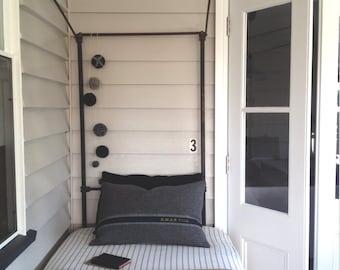 Signature Cushion - HMAS - oblong grey blanket rustic cushion