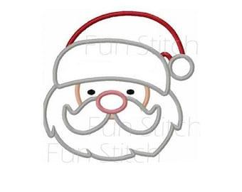 Christmas Santa applique machine embroidery design