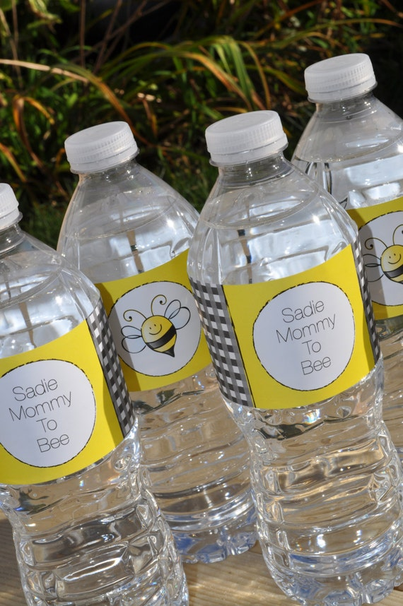 Bee Baby Shower Water Bottle Labels Bumble