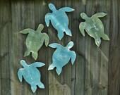 5 Beach-y Sea Turtles, Coastal Living, Nautical Wall Decor, Beach House Wall Art