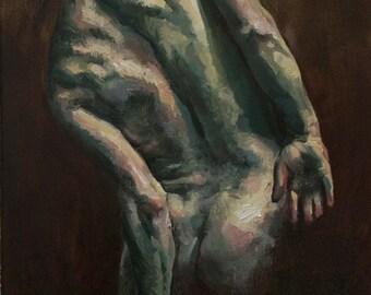 Figurative Study II, Original Oil Painting