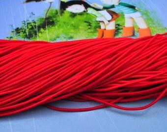 2.5mm Red Elastic Drawcord elastic Cord rope
