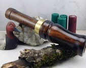 Short Reed goose Call  in Black Waknut With brass Band #255