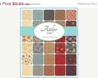 ON SALE Atelier Moda Quilt Fabric Moda Charm Pack 42 squares 5""