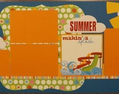 Premade Beach Scrapbook Pages, Pool Scrapbook Pages, Vacation Scrapbook Pages, Summer Scrapbook Pages, Waterpark Scrapbook Pages