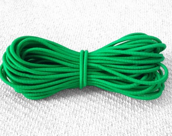 NEW: 2.5mm Kelly Green Elastic Cord - Choose your length