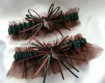 Green Wedding Garter Etsy