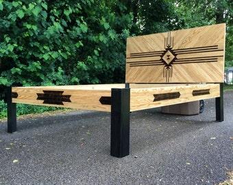 Custom Bed and Headboard - Reclaimed Wood