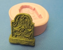 Tombstone Mold Silicone RIP Cemetery Headstone Molds WhysperFairy PMC Clay Polymer Clay Wax Soap Embed Molds