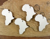 """25 Africa Wood Earring Shapes Unfinished 2"""" H x 1 5/8"""" W With Hole Laser Cut Jewelry Making Pendant"""