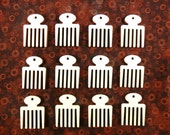"12 Adinkra Afro Pick Comb Beauty Hygiene Feminine Symbol Earring Pendant 1 1/4"" H Unfinished Laser Cut Wood Shapes Jewelry - 12 Pieces"