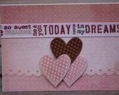 Anniversary card, Love card-Three Hearts