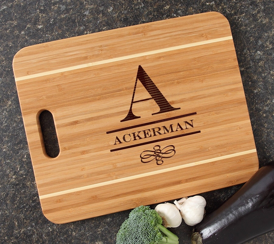 Personalized Cutting Boards ~ Personalized cutting board engraved bamboo