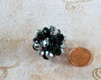 Large Black and Silver AB Crystal Bead Ball